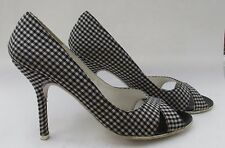 Schuh size 5 (38) Alice x peep black and white textile court heels