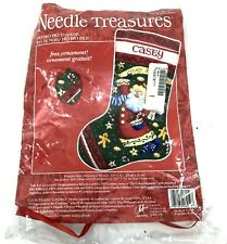 Ho Ho Ho Stocking Needlepoint Kit With Ornament Needle Treasures 06919