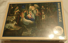 """Cobble Hill Puzzle - Away In A Manger - Nativity - 500 Pieces - 24"""" x 18"""" - NIB"""