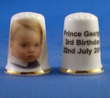 Prince George 1st Royal Christening Gold Coin China Thimble B//122