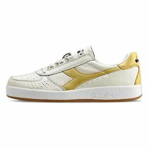 Scarpe Sneakers Uomo DIADORA B.ELITE L White/Gold Con Lacci Misura EU 44