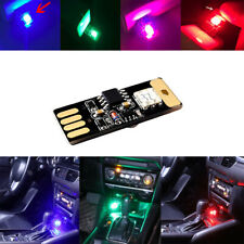 Multicolor USB LED Car Interior Lamp Atmosphere Ambient Night Light Accessories