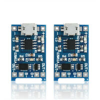 NEW 2PCS 5V Micro USB 1A 18650 Lithium Battery Charging Board Charger Module ID