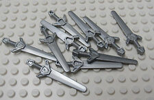 Lego Sword Silver Lot of 10 - Castle Knight Kingdoms - New