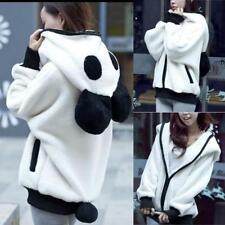 Bear Ear Panda Winter Warm Hoodie Coat Women Lady Hooded Jacket Outerwear Jumper