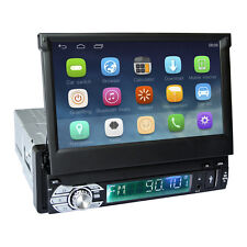 """7"""" Android 6.0 Single 1 Din GPS Flip Car Stereo Radio Player Touch Screen SD"""