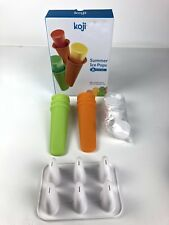 New In Box Koji Summer Ice Pop Molds 6 Silcone Molds 677