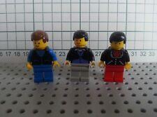 VINTAGE LEGO - TOWN CITY - 3 x WAITER BARMAN MEN IN SUITS MINIFIG FIGURES  LOT 2