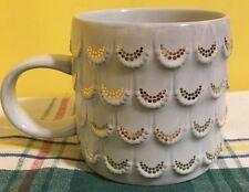 2016 Starbucks Anniversary Raised Gold Mermaid Scales Coffee Cup Mug 10oz Siren