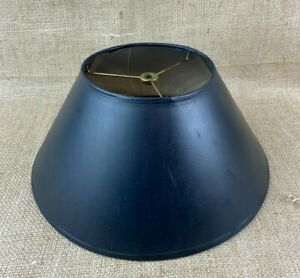 Black Coolie Flare Hardback Lamp Shade with Silver Lining