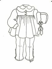 """Sewing Pattern doll Toddler design size 21 - 22 """" coat hat tights 555"""