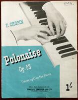 Chopin – Polonäse Op. 53 Für Klavier – Kneipe 1945