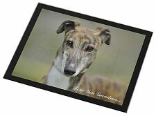 Greyhound Dog 'Love You Grandma' Black Rim Glass Placemat Animal Ta, AD-GH7lygGP