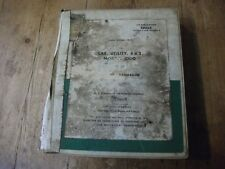 Morris Minor ORIGINAL BMC Workshop Manual Used By The Royal Air Force