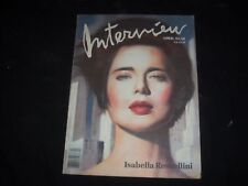 1988 APRIL INTERVIEW MAGAZINE - ISABELLA ROSSELLINI COVER - SP 3233