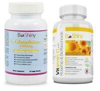 BeShiny Glutathione and Vitamin C 1000mg Skin Whitening Brightening Pills Set