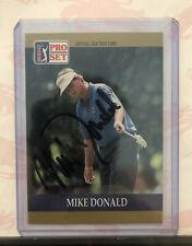 Signé 1990 Pro Set PGA Tour # 28 MIKE DONALD Auto