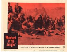 manhunt in the jungle 1958 set of 8 Lobby Cards LC818