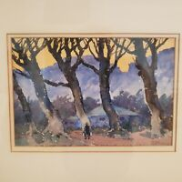 """Charles Oglesby Longabaugh Water Color """"Linares Mexico"""" 1938"""