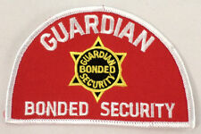 Guardian Bonded Security  Uniform Patch #Mswh