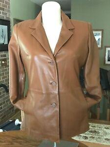 Jones NY leather blazer jacket women's size L
