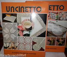 UNCINETTO 2 Volumi Alfredo Valentini 1976 Manuale Enciclopedia Cucito Femminile