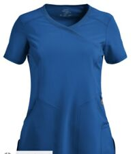 Cherokee infinity V-neck self-piping scrub top Size Medium royal blue nwot