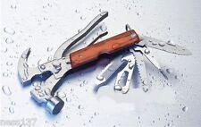 Marteau Multifonction Arrache-Clous Couteau Pince Scie Camping Chasse Peche