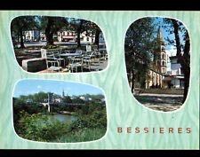 BESSIERES (31) PONT suspendu , COMMERCES , HOTEL & EGLISE