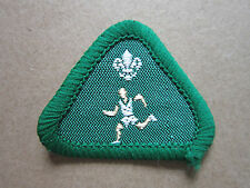 Athlete Green Proficiency Cub Scout Woven Cloth Patch Badge Boy Scouts Scouting