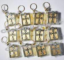 24 Baptism Mini Gold Bibles Favors Keychains Recuerdos De Bautizo Communion Span