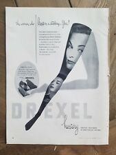 1951 women's Drexel hosiery woman who lives in a stocking vintage fashion ad