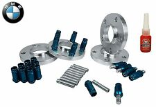Complete BMW 20 MM Wheel Spacers & Stud Conversion W/ Blue Racing Lug Nuts
