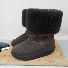 Skechers Women's size 6.5 Shape Ups XF Bollard 24860 Fleece Lined Brown Boots