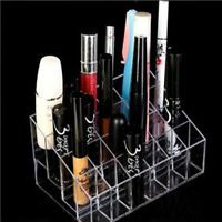 Practical Acrylic 24 Lipstick Holder Cosmetic Brush Organizer Display Stand Case