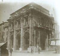 Italia Monumento c1910 Foto Stereo Placca Da Lente VR12he