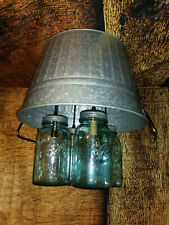 Rustic/country Round Wash Tub Mason Jar Light Fixture