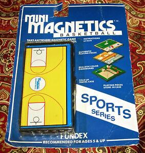 Fundex Mini Magnetics Sports Series BASKETBALL 1989 VTG New Sealed Game