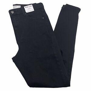 BNWT Topshop Black Ripped Knee Jamie Jeans - W30 L32 - UK 12