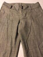 Banana Republic Women's Pants Gray Wool Stretch Cuffed Size 8 X 32