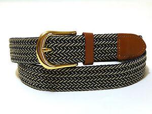 Woven Stretch Belt Mens 6 Colors Size S thru 3XL