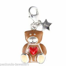 Sterling Silver Tingle Teddy Bear clip on Charm with Gift Box and Bag SCH157