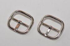 2x Gürtelschnalle Schnalle Schließe für ca. 25 mm Breite, Silber, rostfrei