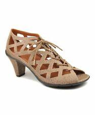 NIB GENTLE SOULS Taupe Leather Okey Dokey Heels Sandal Pump 9 M