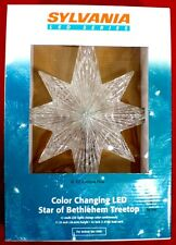 """Sylvania LED Color Changing Star of Bethlehem Treetop Tree Topper 11""""  NEW"""