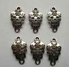 20pcs Tibetan silver skeleton charms connector 26x13mm