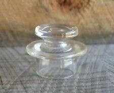Modern Look Clear Glass Flat Top Stopper for a Decanter or Coffee Pot Unmarked