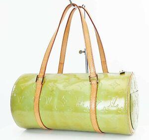 Authentic LOUIS VUITTON Bedford Baby Blue (Green) Vernis Hand Bag Purse #36832