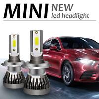 2 x H7 LED Headlight Conversion COB Bulb 1500W 240000LM White High Power 6000K