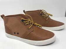 New NWOB London Fog Men's Epsom Canvas Sneaker Shoe 9.5 M Cognac Tan